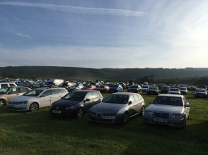 Margam Park car park at 0645